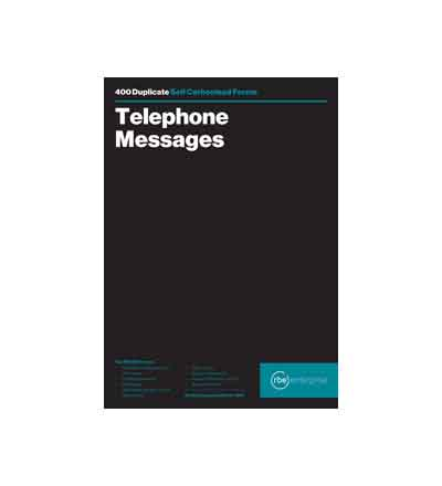 RBE TELEPHONE MESSAGE BOOK 8 TO VIEW (400)