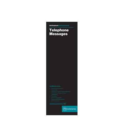 RBE TELEPHONE MESSAGE BOOK 4 TO VIEW (200)