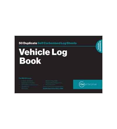 RBE A5 DUPLICATE VEHICLE LOG BOOK 50 SETS
