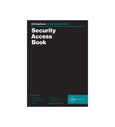 RBE A4 SECURITY ACCESS BOOK (200)