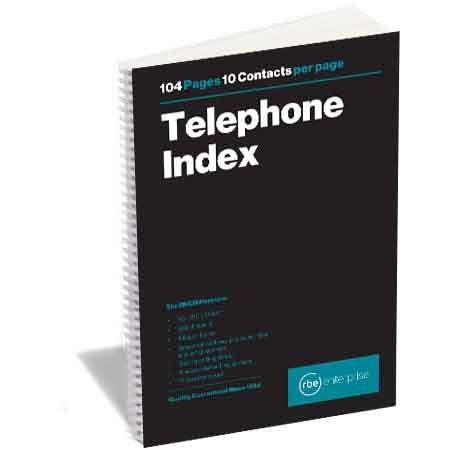 RBE A5 TELEPHONE INDEX A-Z BOOK 100 PG