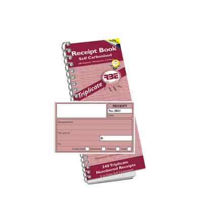 RBE TRIPLICATE RECEIPT BOOK