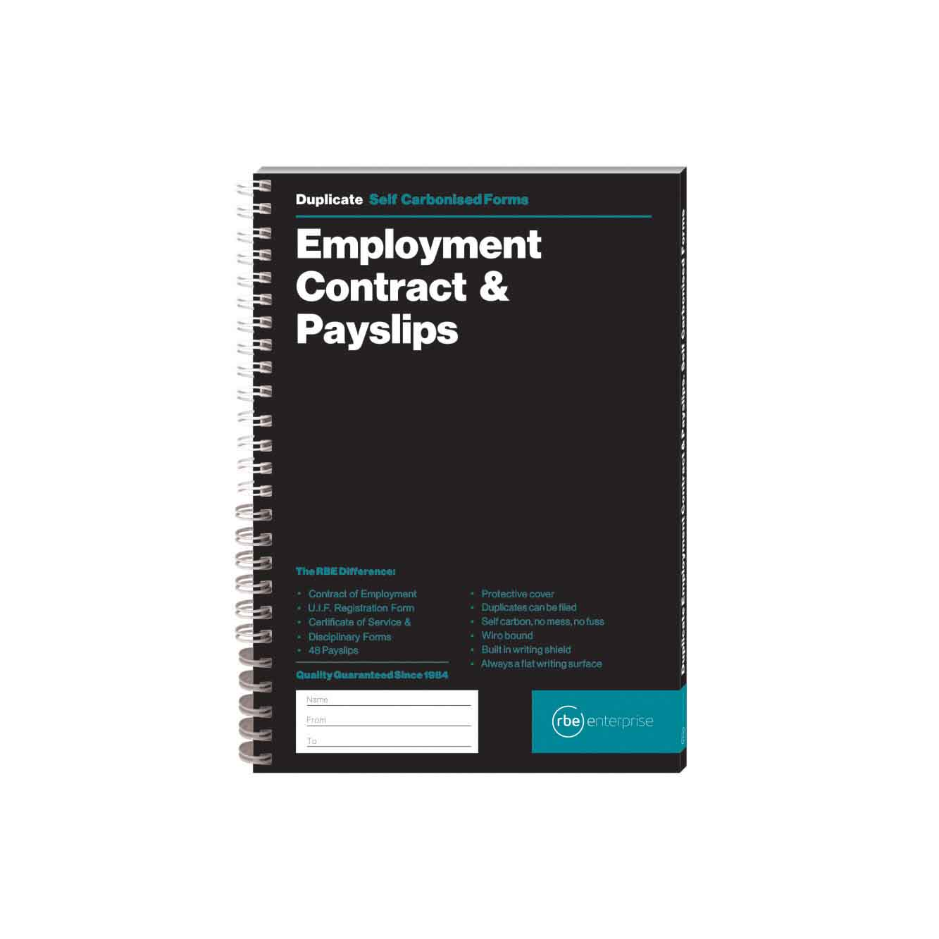 RBE A5 EMPLOYMENT CONTRACT & PAYSLIP PAD 48 SETS