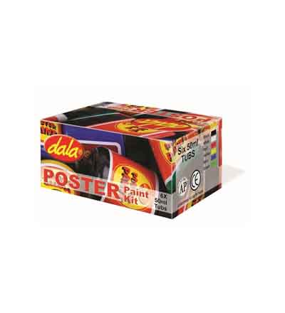 DALA POSTER PAINT KIT6x50ML