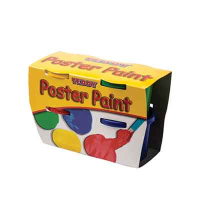 POSTER PAINT KIT 4 X 100ML