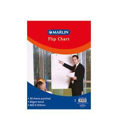 MARLIN FLIP CHARTS BOND PAPER