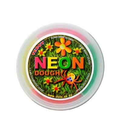 TEDDY PLAY DOUGH NEON 4 X 60G