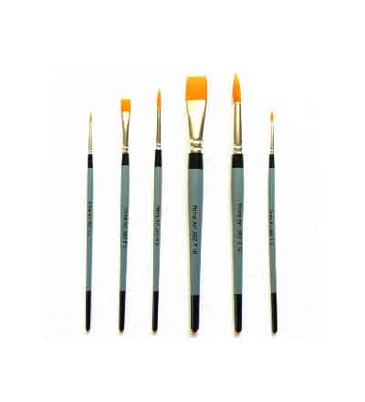 PRIME ART 365 GOLDEN TAKLON FLAT BRUSH RANGE