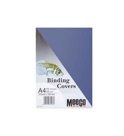 MEECO A4 CLEAR BINDING COVERS 150MIC (PACK OF 100)