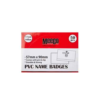 MEECO PVC NAME BADGES