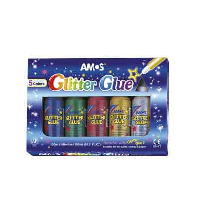 AMOS GLITTER GLUE JUMBO (SET OF 5)
