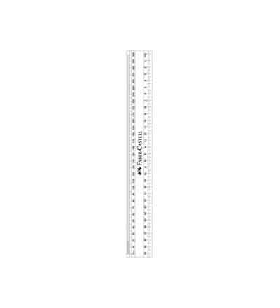 RULER 30CM/MM CLEAR SCHOLAR FABER-CASTELL