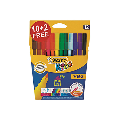 BIC KIDS VISA FELT PENS (SET OF 12)