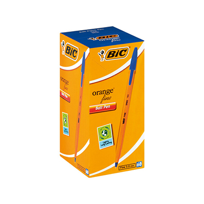 BIC ORANGE FINE BALLPOINT PENS (BOX OF 60)