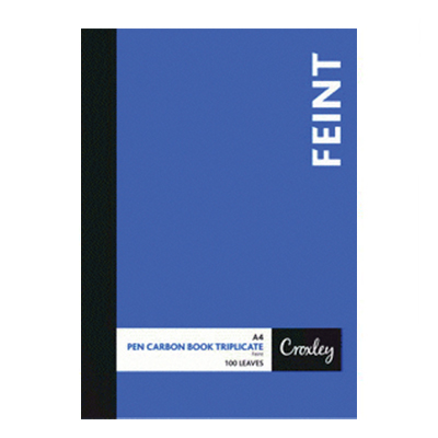CROXLEY A4 CARBON BOOKS