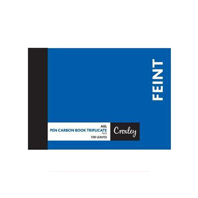 CROXLEY A6 FEINT RULED CARBON BOOK 100 LEAVES
