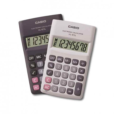 CASIO 8 DIGIT 815L CALCULATORS