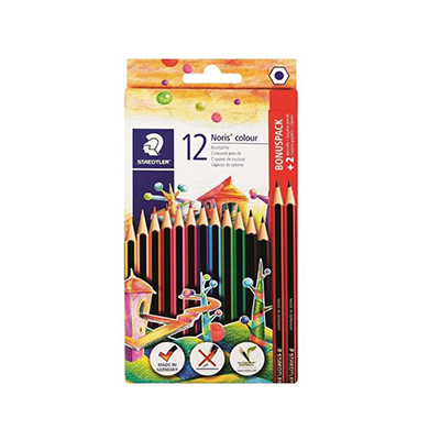 STAEDTLER COLOUR PENCILS + 2 HB ECO TRADITION (SET OF 12)
