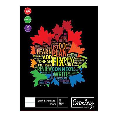 CROXLEY JD265 A4 EXECUTIVE PAD (80 SHEETS)
