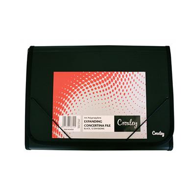 CROXLEY A4 EXPANDING FILE BLACK