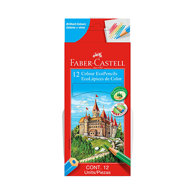 COLOUR ECOPENCILS FABER-CASTELL (SET OF 12)