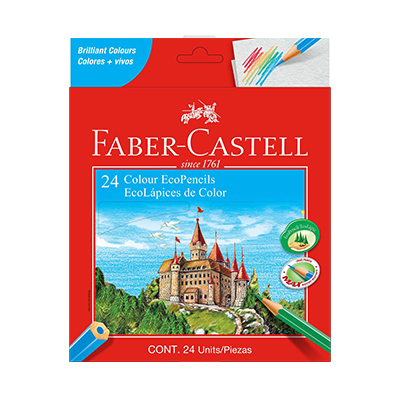 COLOUR ECOPENCILS FABER-CASTELL (SET OF 24)