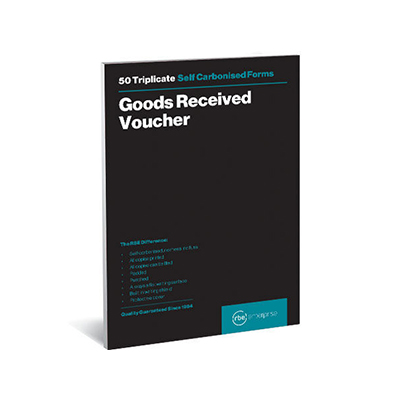 RBE A5 TRIPLICATE GOODS RECEIVED VOUCHER PAD 50 SHEETS