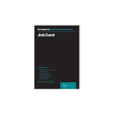 RBE A5 DUPLICATE JOB CARD PAD 50 SETS