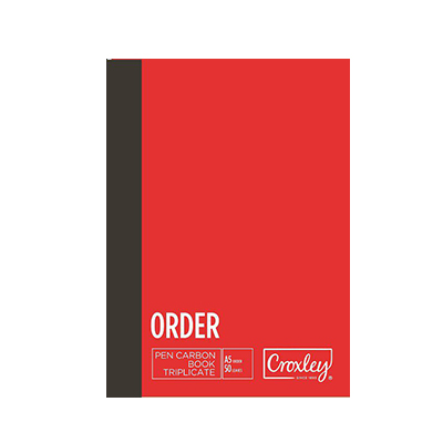 CROXLEY A5 TRIPLICATE ORDER CARBON BOOK 50 LEAVES