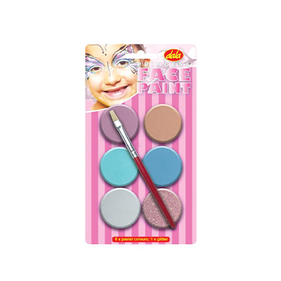 DALA PRINCESS FACE PAINT KIT 6X10ML + BRUSH