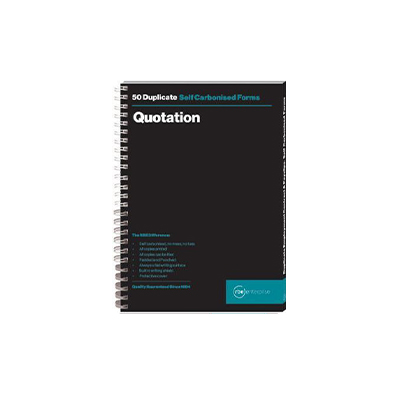 RBE A5 DUPLICATE QUOTATION PAD 50 SETS