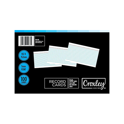 CROXLEY RECORD CARDS