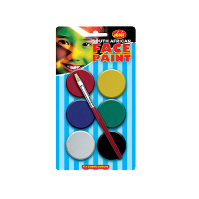 SA FLAG FACE PAINT KIT 6X10ML WITH BRUSH