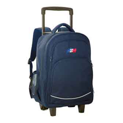 SchoolMate MEDIUM NAVY DIVISION TROLLEY BACK PACK
