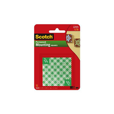 SCOUTCHMOUNT 111 MOUNTING SQUARES - PERMANENT (25MM X 25MM)