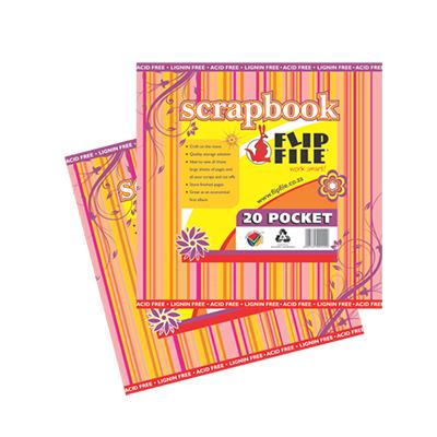 FLIP FILE 20 POCKET SCRAPBOOK FILE