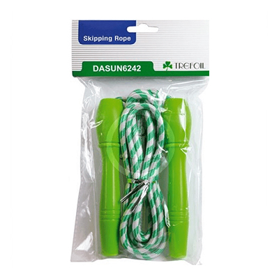 TREFOIL SKIPPING ROPE PLASTIC HANDLE
