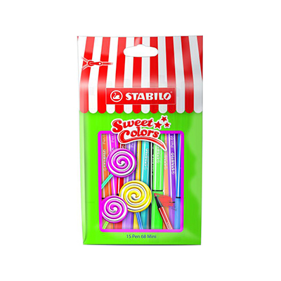 STABILO SWEET COLORS MINI POINT 68 POUCH OF 15