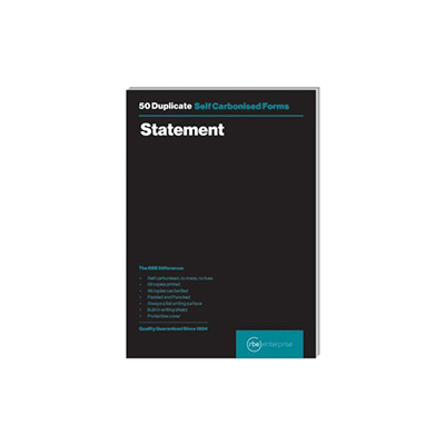 RBE A5 DUPLICATE STATEMENT PAD 50 SETS
