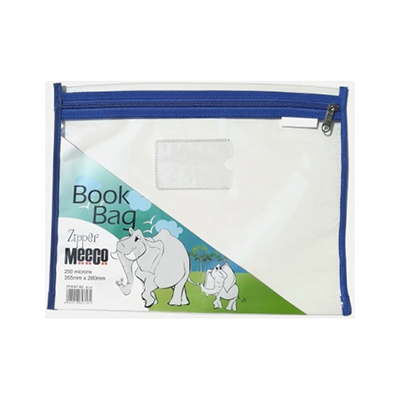 ZIP A BAG A4 PVC MEECO BLUE