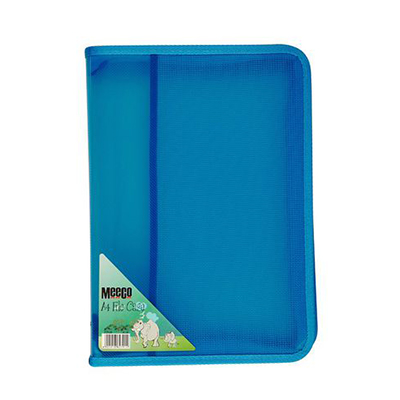 ZIP FILE CASE A4 BLUE