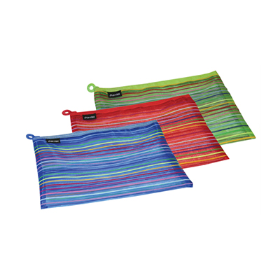 ZIPPA BAG - MESH - BANTEX COLOURED STRIPES A5